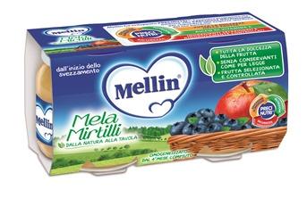 MELLIN OMOGENEIZZATO MELA MIRTILLO 100 G 2 PEZZI - Farmajoy