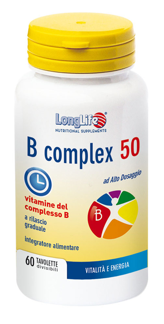 LONGLIFE B COMPLEX 50 T/R 60 TAVOLETTE - Farmabros.it