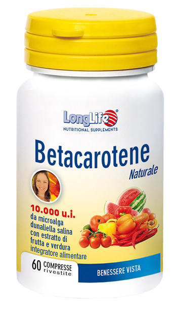 LONGLIFE BETACAROTENE 60 COMPRESSE - Farmapage.it
