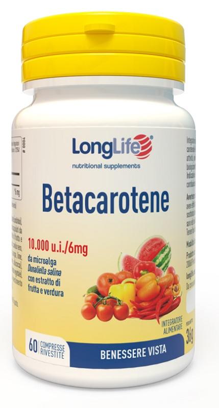 LONGLIFE BETACAROTENE 60 COMPRESSE - latuafarmaciaonline.it