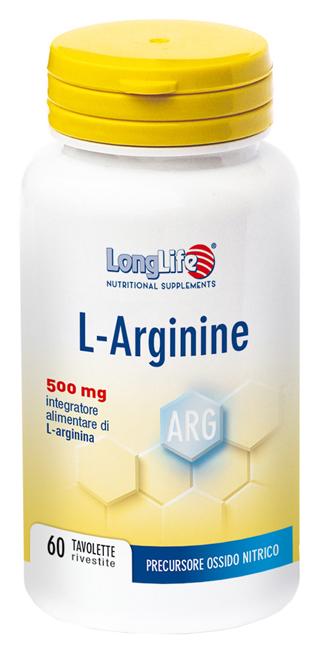 LONGLIFE LARGININE 60 TAVOLETTE - DrStebe
