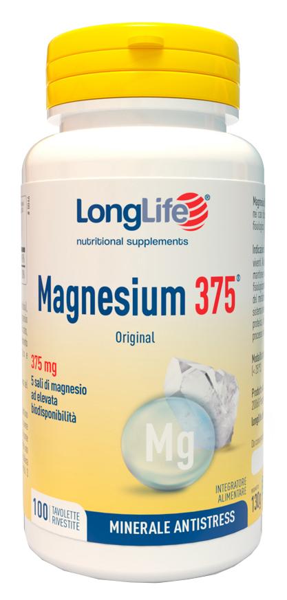 LONGLIFE MAGNESIUM 375 MG 100 TAVOLETTE - Farmawing