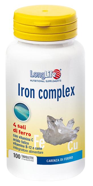 LONGLIFE IRON C TR 100 TAVOLETTE - latuafarmaciaonline.it