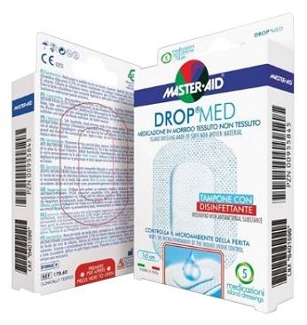 MEDICAZIONE COMPRESSA AUTOADESIVA DERMOATTIVA IPOALLERGENICA AERATA MASTER-AID DROP MED 10X12 5 PEZZI - Farmabros.it