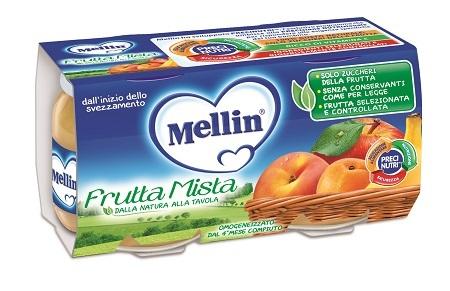 MELLIN OMOGENEIZZATO FRUTTA MISTA 100 G 2 PEZZI - Farmacielo