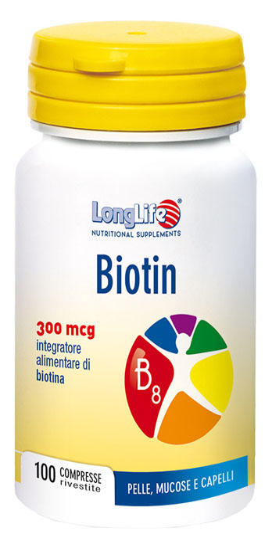 LONGLIFE BIOTIN 100 COMPRESSE - Zfarmacia