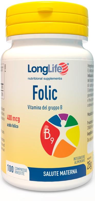 LONGLIFE FOLIC 400 MCG 100 COMPRESSE - latuafarmaciaonline.it