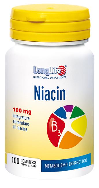 LONGLIFE NIACIN 100MG 100CPR prezzi bassi