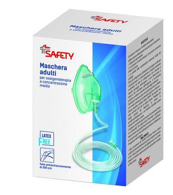MASCHERA PER OSSIGENOTERAPIA CON TUBO 200CM - Farmaseller