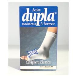 Dupla Cavigliera Elastica Bianca Taglia L