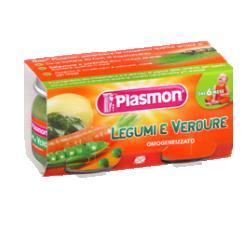 PLASMON OMOGENEIZZATO VERDURE LEGUMI 80 G X 2 PEZZI - COSIMAX SRLS