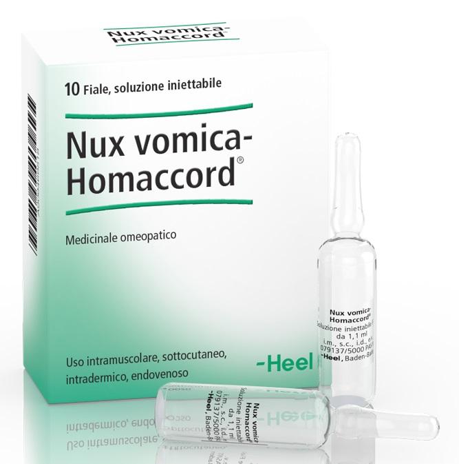 HEEL NUX VOMICA HOMACCORD 10 FIALE - Farmaci.me