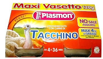 PLASMON OMOGENEIZZATO TACCHINO 120 G X 2 PEZZI - Parafarmacia Tranchina