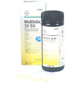 STRISCIA REATTIVA MULTITEST MULTISTIX 10SG 100 STRISCE CODICE ARTICOLO 2300C - Farmaseller