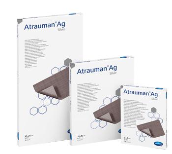 MEDICAZIONE CON ARGENTO ATRAUMAN AG 5X5CM 10 PEZZI - Farmabros.it