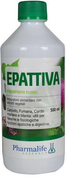 PHARMALIFE EPATTIVA CONCENTRATO FLUIDO 500 ML - Iltuobenessereonline.it