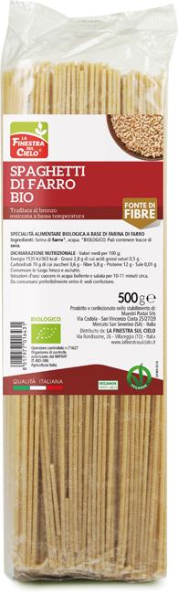 SPAGHETTI DI FARRO BIO 500 G - farmaciafalquigolfoparadiso.it