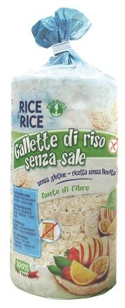 RICE&RICE GALLETTE DI RISO SENZA SALE E SENZA LIEVITO 100 G - FARMAPRIME