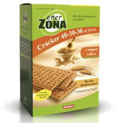 EnerZona Enervit Cracker 40-30-30 Al Farro Ricetta Mediterranea 7x25g - Zfarmacia