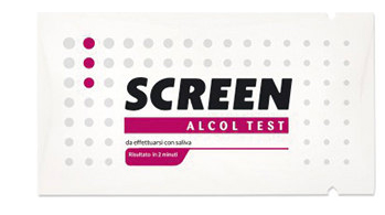 ALCOL TEST MONOUSO RILEVA ALCOL NELL'ORGANISMO TRAMITE SALIVA SCREEN ALCOL TEST - Farmabros.it