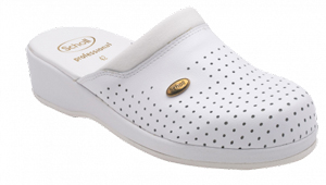 Dr. Scholl Clog Back Guard Pelle Bianco n°41