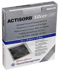 ACTISORB SILVER MEDICAZIONE IN CARBONE ATTIVO CON ARGENTO 10,5X10,5 CM 3 PEZZI - Farmabellezza.it