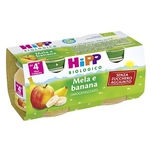 HIPP BIO FRUTTA GRATTUGGIATA MELA BANANA 4X100 G - farmaciafalquigolfoparadiso.it