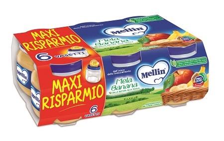 MELLIN OMOGENEIZZATO MELA BANANA 100 G 6 PEZZI - Farmacia Bartoli