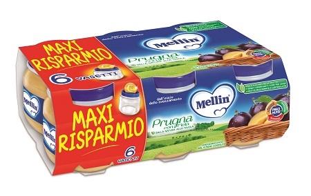 MELLIN OMOGENEIZZATO PRUGNA MELA 100 G 6 PEZZI - Farmapage.it