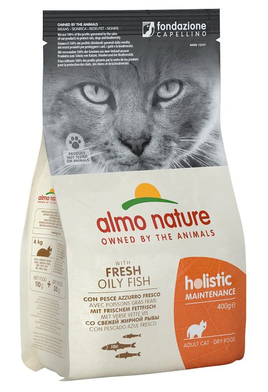 HOLISTIC CAT PESCE AZZ/RISO400 - Farmawing
