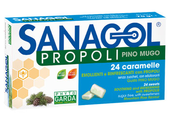 SANAGOL PROPOLI PINO MUGO 24 CARAMELLE - Spacefarma.it