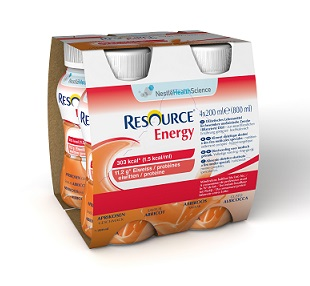 RESOURCE ENERGY ALBICOCCA 4 BOTTIGLIE 200 ML - FARMAPRIME