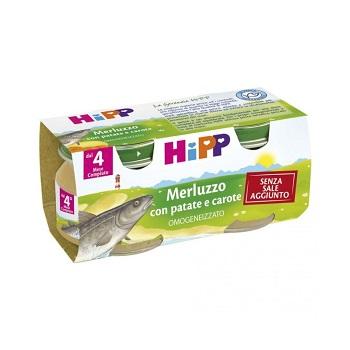HIPP OMOGENEIZZATO MERLUZZO CAROTE PATATE 2X80 G - Farmafamily.it