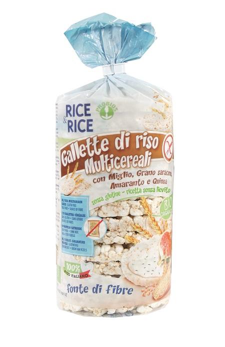 RICE&RICE GALLETTE MULTICEREALI 100 G SENZA LIEVITO - Farmafirst.it