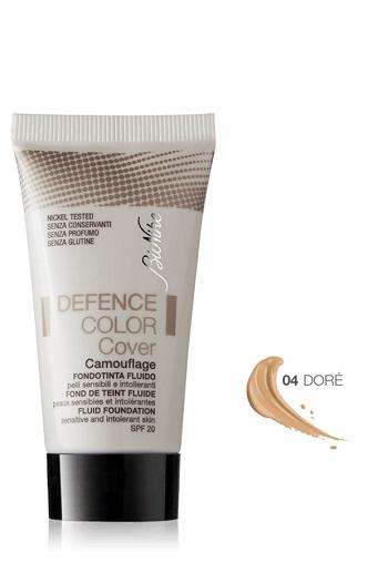 Defence Color Cover Fondotinta Fluido Correttivo Tonalità 04 Dorato 30 ml - Farmalilla