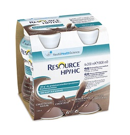 RESOURCE HP/HC CIOCCOLATO 4 BOTTIGLIE 200 ML - Parafarmacia Tranchina