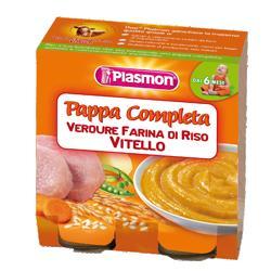 PLASMON OMOGENEIZZATO PAPPE VITELLO/VERDURA/RISO 190 G X 2 PEZZI - Farmajoy