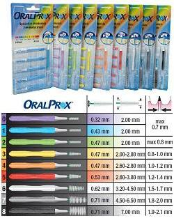 ORALPROX BLISTER DA 6 SPAZZOLINI INTERDENTALI MISURA 4 COLORE ARANCIONE - Farmaseller