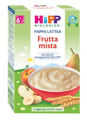 HIPP BIO PAPPA LATTEA FRUTTA MISTA 250 G - Zfarmacia