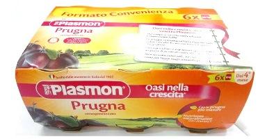 PLASMON OMOGENEIZZATO PRUGNA 6 X 104 G - Farmacia Massaro