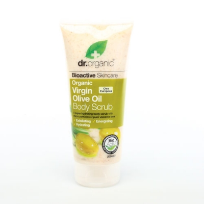 DR ORGANIC VIRGIN OLIVE OIL OLIO DI OLIVA BODY SCRUB CORPO 200 ML - Farmastar.it