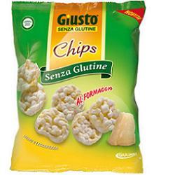 GIUSTO SENZA GLUTINE CHIPS FORMAGGIO 30 G - FARMAPRIME