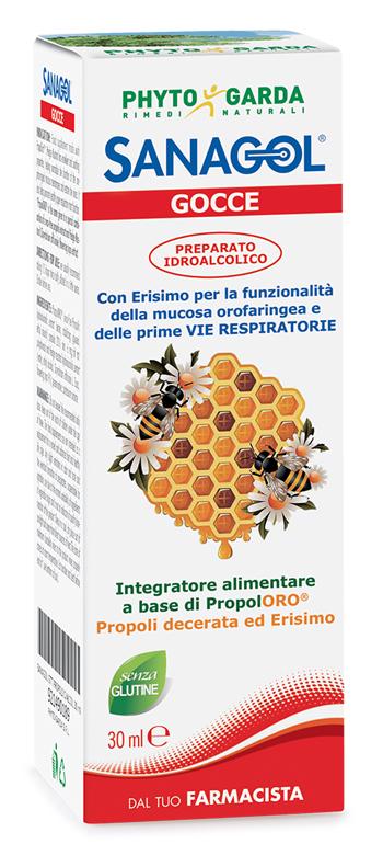 SANAGOL GOCCE PROPOLI ESTRATTO IDROALCOLICO 30 ML - Farmaseller