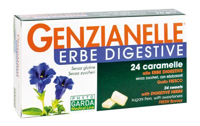 GENZIANELLE ERBE DIGESTIVE SENZA ZUCCHERO 24 CARAMELLE - Farmacia Massaro