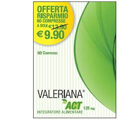 VALERIANA ACT 125 MG 60 COMPRESSE DA 125 MG - Farmaunclick.it