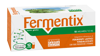 FERMENTIX PLUS SENZA GLUTINE 10 MILIARDI 12 FLACONCINI 10ML* - Spacefarma.it