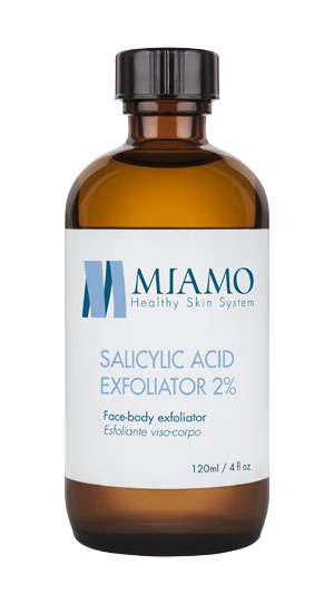 MIAMO ACNEVER SALICYLIC ACID EXFOLIATOR 2% 120 ML ESFOLIANTE VISO-CORPO - Farmajoy
