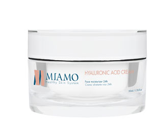 MIAMO TOTAL CARE HYALURONIC ACID CREAM 50 ML CREMA IDRATANTE VISO 24H - Farmajoy