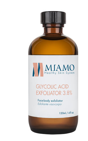 MIAMO TOTAL CARE GLYCOLIC ACID EXFOLIATOR 3 8% 120 ML ESFOLIANTE VISO-CORPO - Farmajoy