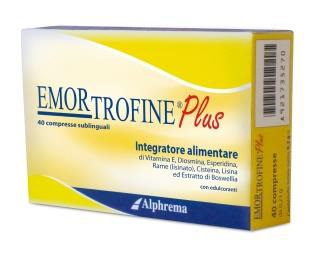 EMORTROFINE PLUS 40 COMPRESSE - Zfarmacia